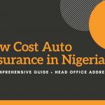 Low Cost Auto Insurance In Nigeria