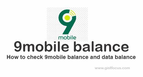 9mobile balance: How to check 9mobile account and data balance 9