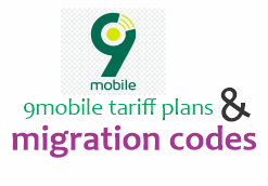 Best 9mobile tariff plans, charges and migration codes (Latest 2020) 6