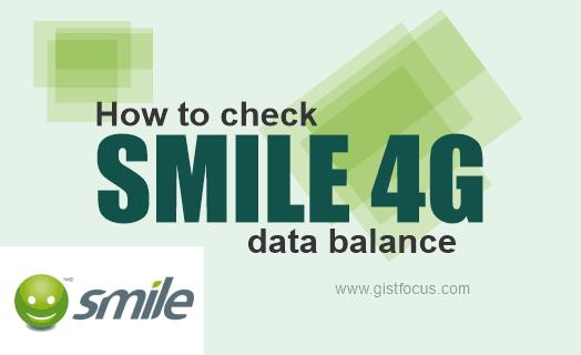 how to check smile data balance