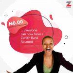 Zenith Bank Savings Account Online Registration Procedures