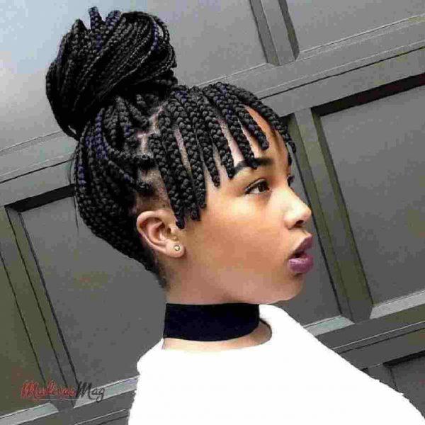 Braids And Fringe nigeria hairstyle stunning