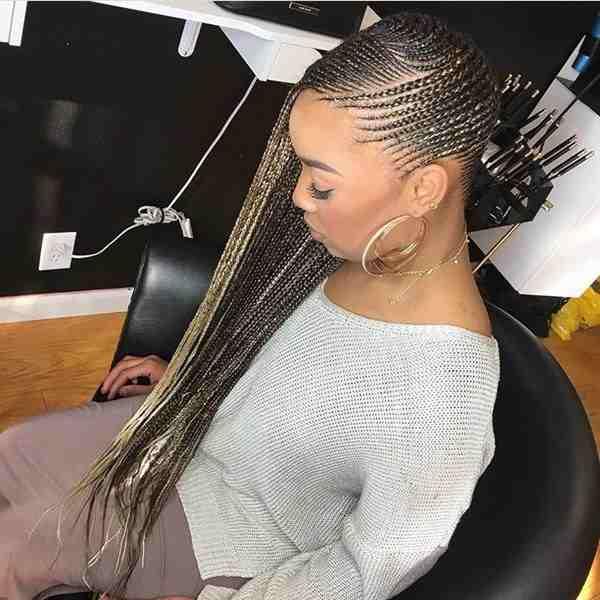 Striking Multiple Braids0Ahairstyle in nigeria