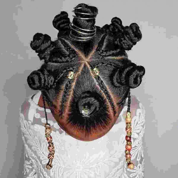 beautiful hairstyle bantu knots
