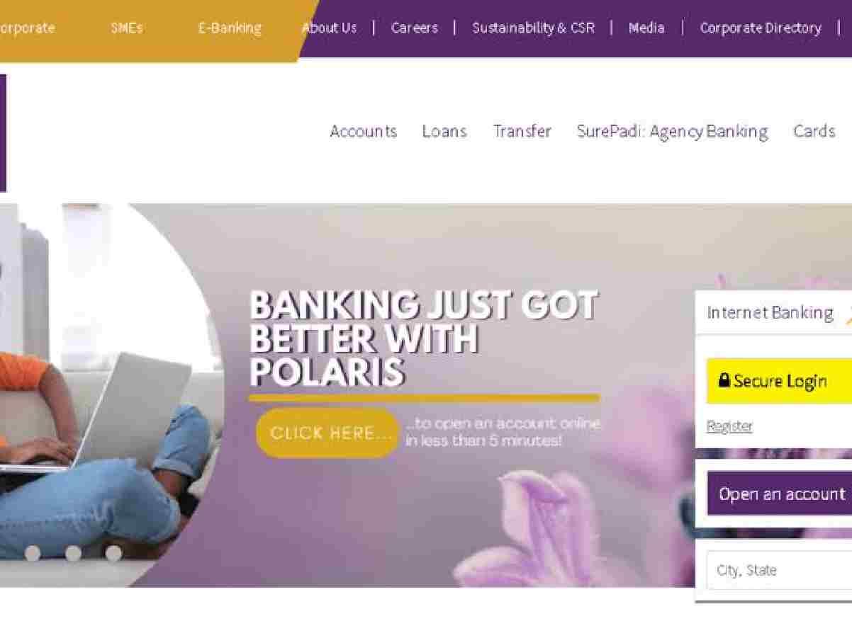 polaris bank internet online banking