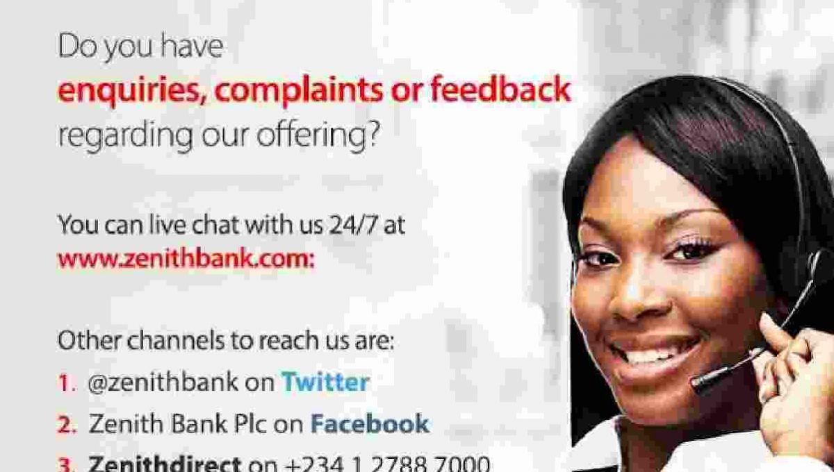 zenith bank customer care