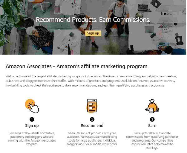 earn with amazon associates