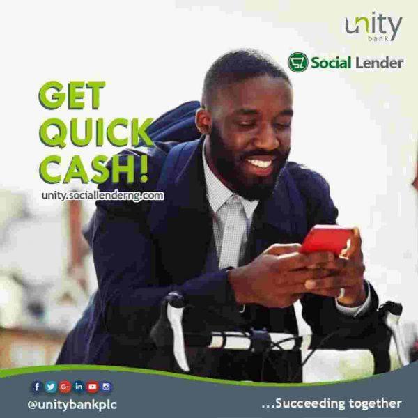 unity bank social lender loan